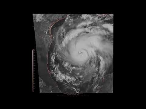 Harvey's Approach Towards Texas Coast Captured in High Quality Satellite Timelapse