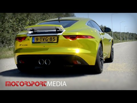 Golden Jaguar F Type Coupe Sound Acceleration 0 100 Youtube