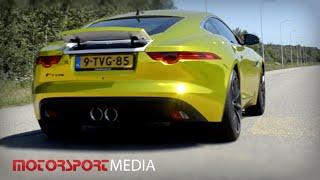 Golden Jaguar F-type coupe sound - acceleration 0-100