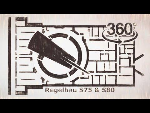 Atlantic Wall Regelbau S75 & Regelbau S80 - 38cm S.K.C/34 Naval Gun Turret - Insta360 ONE R