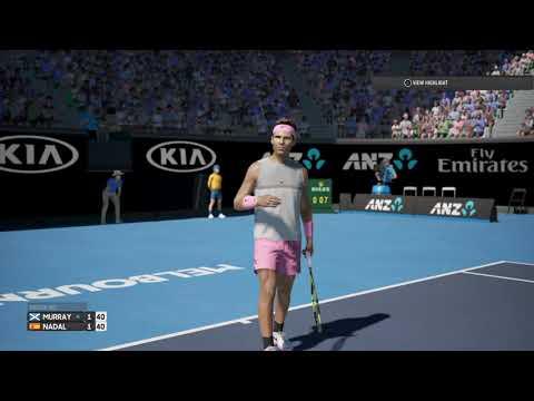 Andy Murray vs Rafael Nadal  - AO International Tennis (PS4)  Patch 1.30/1.13  No Stumble
