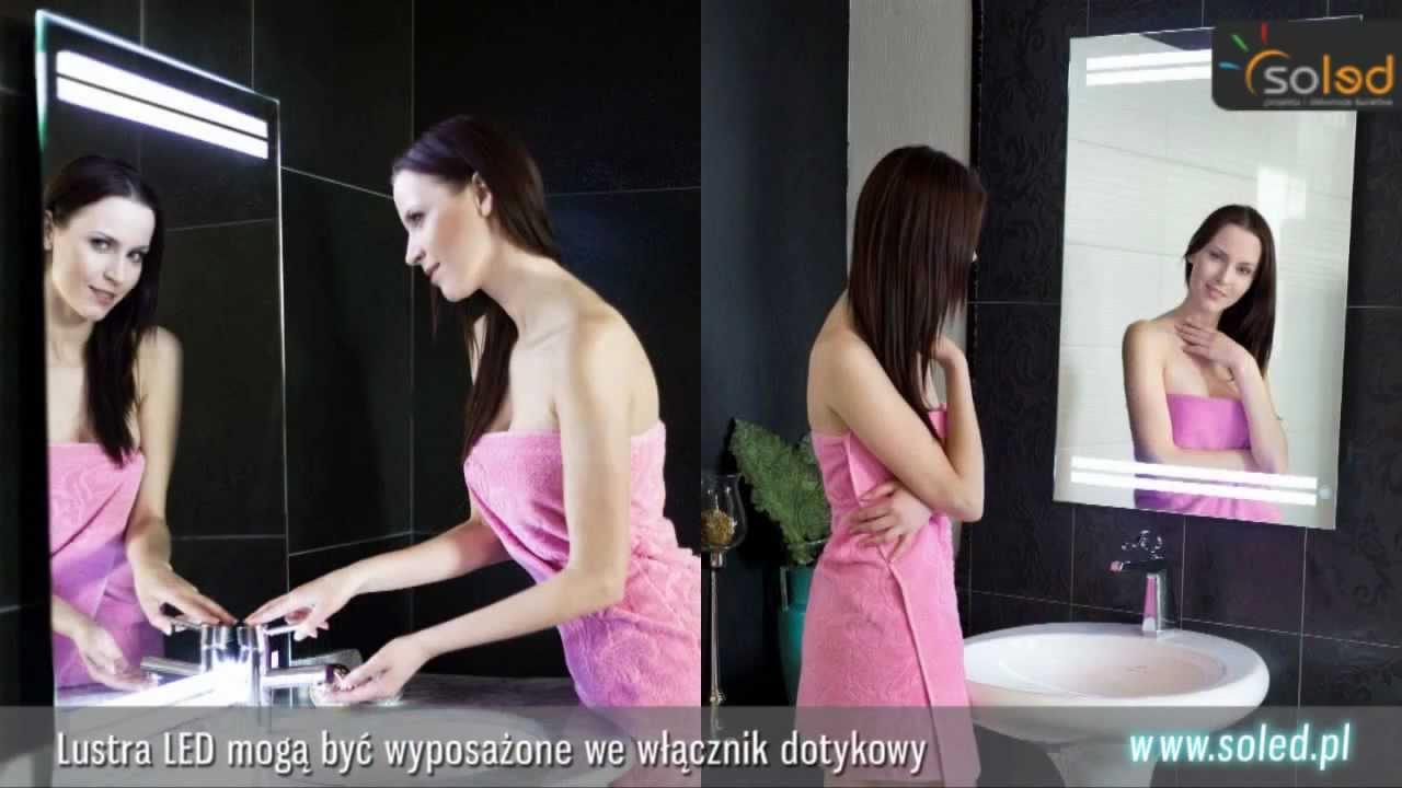 Lustro łazienkowe Z Oświetleniem Led Lustra Podświetlane Led Na Wymiar Oświetlenie łazienki