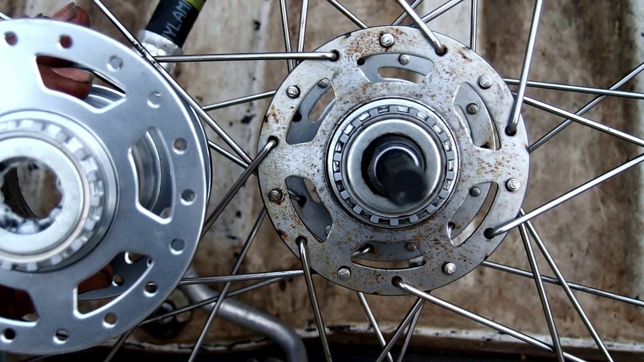 電動自転車のリアハブが壊れたので修理します