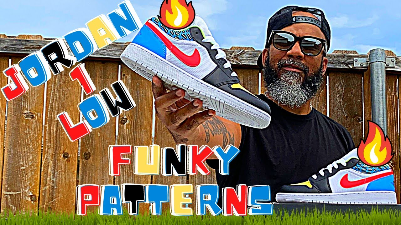 THE JORDAN 1 LOW (GS) FUNKY PATTERNS FIRE!!! (WHERE TO BUY)!!!