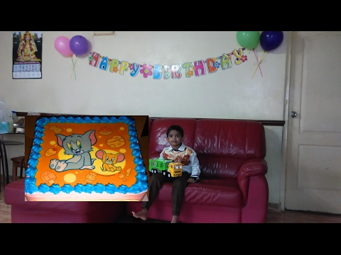 Happy birthday wishes to sanjay with Tom and jerry