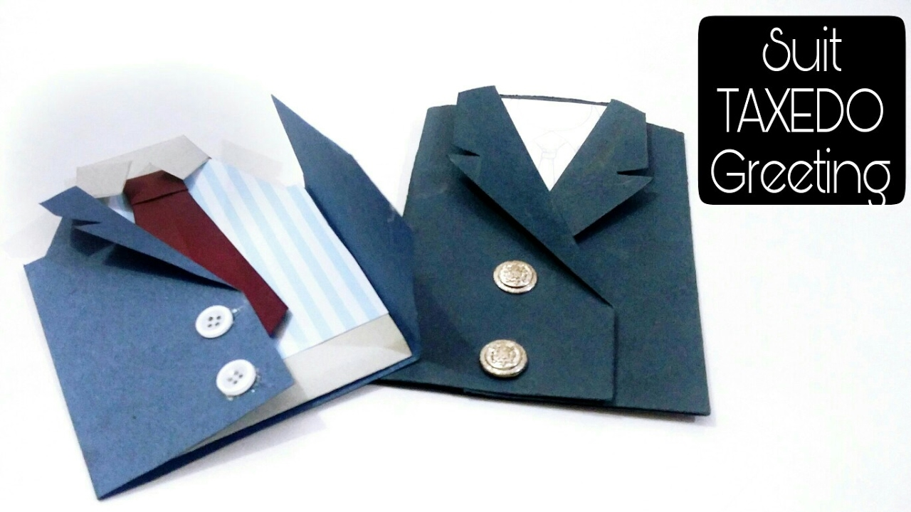 fathers day tuxedo card diy suit tuxedo greeting tutorial 5 minutes craft for 4451
