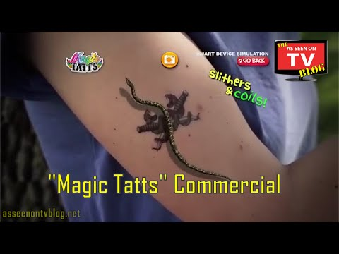 Magic Tatts As Seen On TV Commercial | Buy Magic Tatts | As Seen On TV Animated Temporary Tattoos