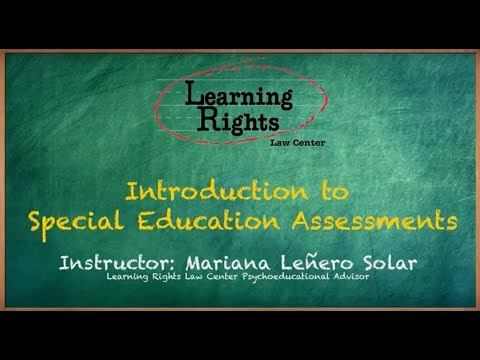 Introduction to Special Education Assessments