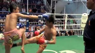 Petmuangchon wins with brutal leg kicks in rd 2 @ Bangla Stadium