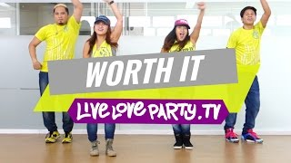 Worth It | Zumba® | Dance Fitness | Live Love Party(Zumba® Fitness with Kristie, Che, Mark and Aris Thanks for watching LIVELOVEPARTY.TV If you liked this video, don't forget to give it a thumbs up and ..., 2015-07-14T07:01:14.000Z)