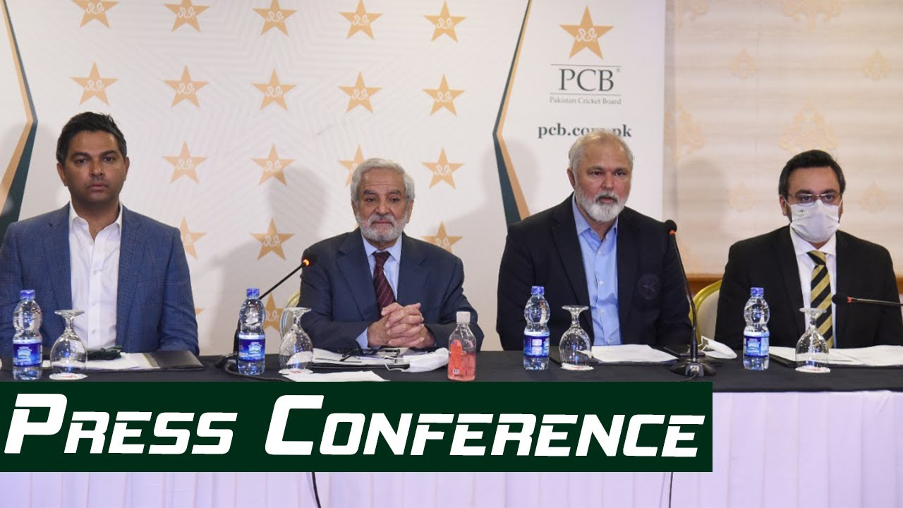Chairman PCB Ehsan Mani, CEO Wasim Khan and COO Salman Naseer Press Conference | PCB | MA2L