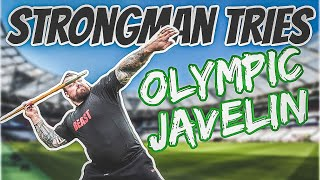 Strongman Tries Olympic Javelin *BAD IDEA*