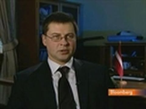 Dombrovskis Discusses Latvia's Credit Rating, Economy