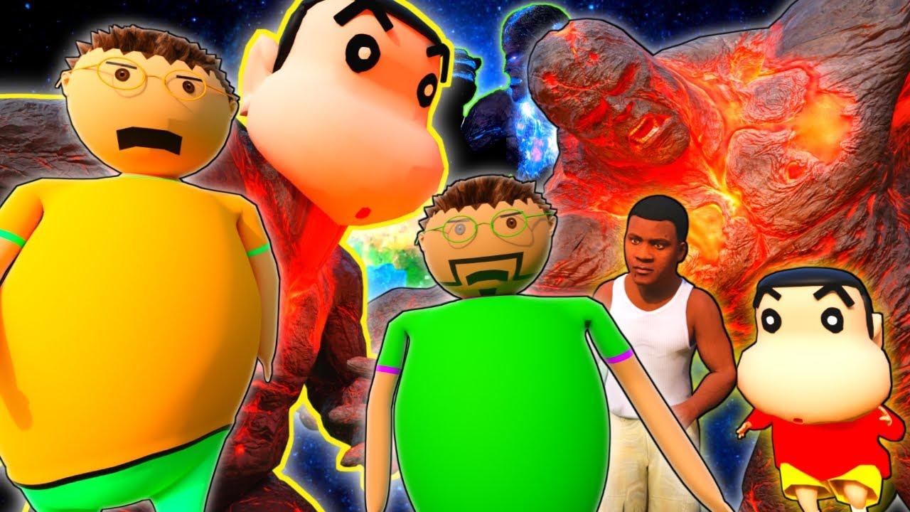Gulli Bulli : GTA 5 Horror Story X LAVA GOD ICE GOD || Lava God Sinchan || Make Joke Horror