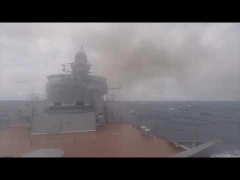 Ударная группа Каспийской флотилии уничтожила корабли условного противника