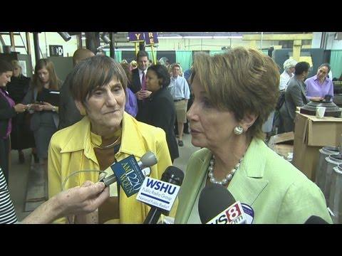 Democratic House leader Nancy Pelosi visits North Branford