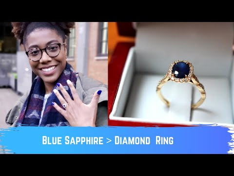 Why I Chose A Blue Sapphire Over A Diamond   Engagement Ring Details