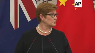 Chinese FM says China and Australia are 'cooperation partners'