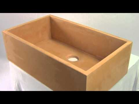 Concrete Sink For Farmhouse Installation - ABC3219-AD - YouTube