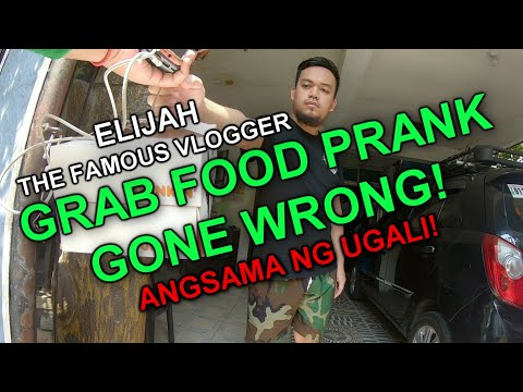 GRAB FOOD PRANK GONE WRONG! - THE FAMOUS VLOGGER
