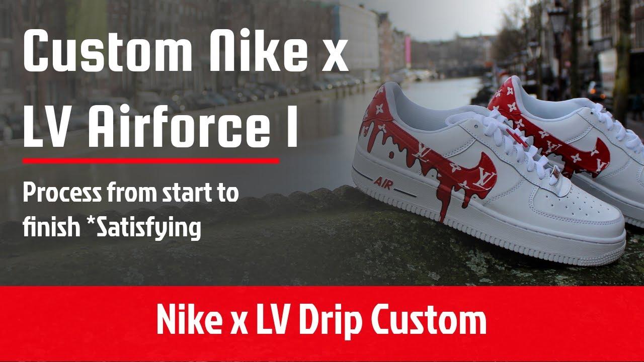 Louis Vuitton X Nike Air Force 1 Drip Custom Youtube