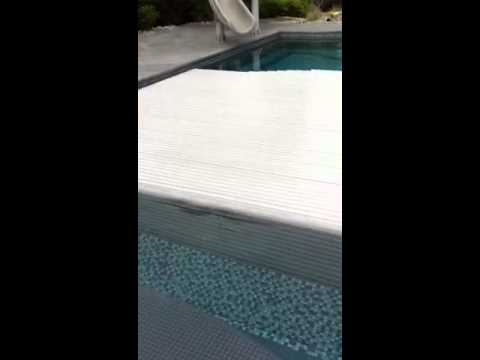 Hydralux Slatted Automatic Swimming Pool Cover Youtube