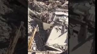 Derrumbe de casas en la Av. Lázaro Cárdenas en Monterrey