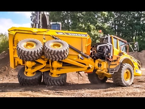Dumper & excavator by VOLVO playing! What a CRAZY ACTION!!! - YouTube
