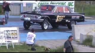 5th Annual Hunnert Car Heads Up w/ Gasser Mag Nats - '63 COMET Gasser - 6-8-13