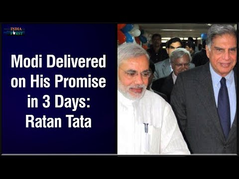 Narendra Modi Delivered on His Promise in 3 Days: Ratan Tata Interview