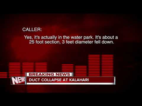 At least two injured at Kalahari Resort after duct falls into pool