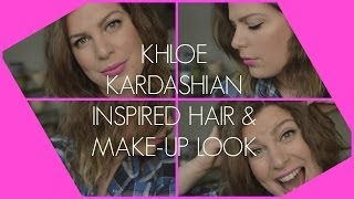 Alternative Khloe Kardashian Inspired Makeup & Hair Look: Pink Lip & Black Cat Flick Thumbnail
