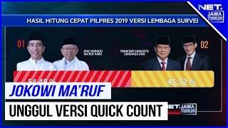 TERBARU !!! Hasil Hitung Cepat (Quick Count) Pilpres 2019 - NET. JATIM
