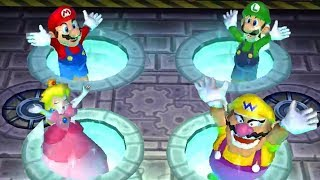 Mario Party 9 - Minigames - Mario vs Luigi vs Peach vs Daisy - Games For Kids