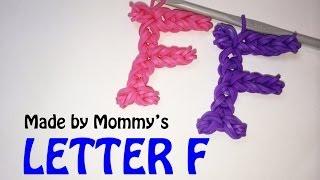 Rainbow Loom Letter F Charm Using Just the Hook