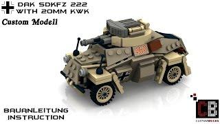 custom ww2 wwii afrikakorps sdkfz 222 dak armored car aus lego steinen