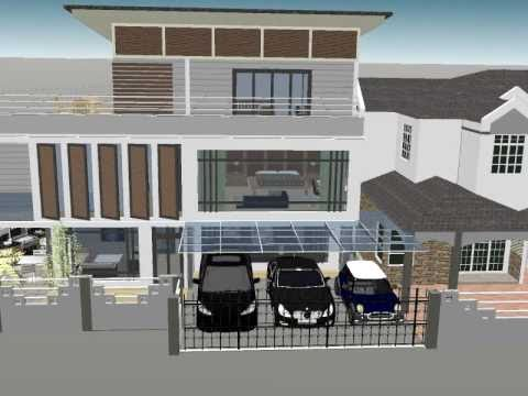Residential terrace house corner lot extension for datuk for Watch terrace house