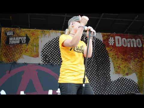 Amelia - Tonight Alive - Warped Tour Columbia, MD 7/10/2013