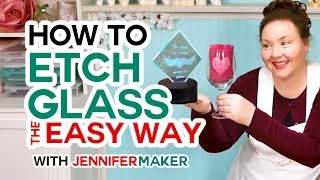 How To Etch Glass The Easy Way (armour Etch & Vinyl Decals!)