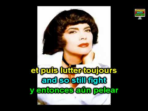 Mireille Mathieu - La quête; Learning French with a song