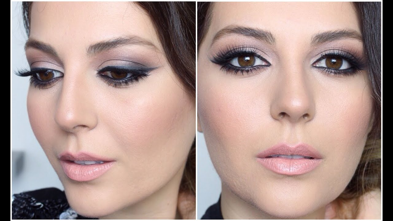 Smokey Glam Smudged Cat Eye Makeup Tutorial Sona Gasparian Youtube
