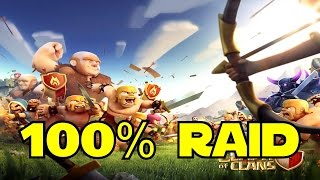 ◀ Clash Of Clans - 100% RAID - Giants and Archers