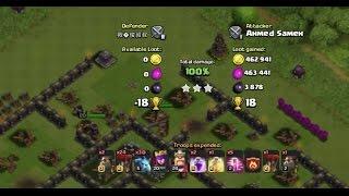 clash of clans ballon minion attack on max TH10 and 9