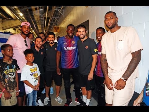INSIDE TOUR | NBA Stars & Barça Players at Hard Rock Stadium (Miami)