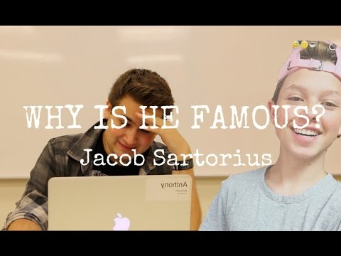 "WHY IS HE FAMOUS: Jacob Sartorius - Hey guys! A question that gets asked a lot on the internet is ""Why is Jacob Sartorius famous?"" so today I'm answering that question."