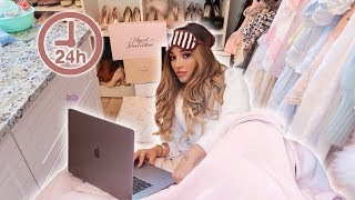 living in my closet for 24 hours challenge