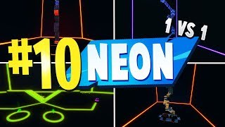 TOP 10 MEJORES NEON 1 VS 1 Mapas Creativos en Fortnite Fortnite Neon Map CODES (1V1 MAP CODES)