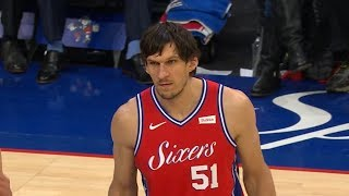Boban Marjanovic's First Bucket as a Sixer - Nuggets vs 76ers | Februray 8, 2019