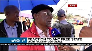 ANC FS Deputy Chair, Thabo Manyoni reacts to court's decision on conference