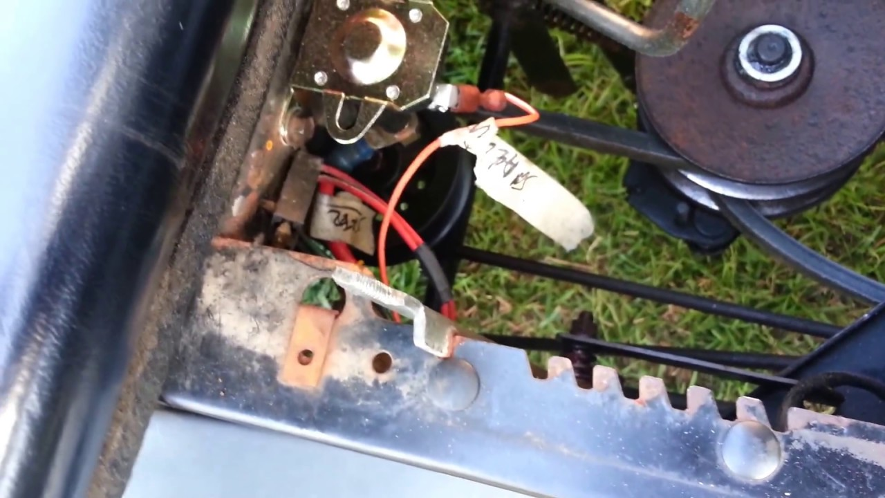 mtd lawn mower belt diagram hitachi 24v alternator wiring tensioner pulley fixed and updates - youtube